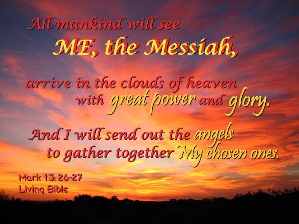 Jezus zal zijn Engelen uitzenden