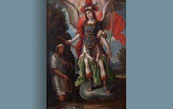 St. Michael verschijnt in 1631 in Tlaxcala, Mexico