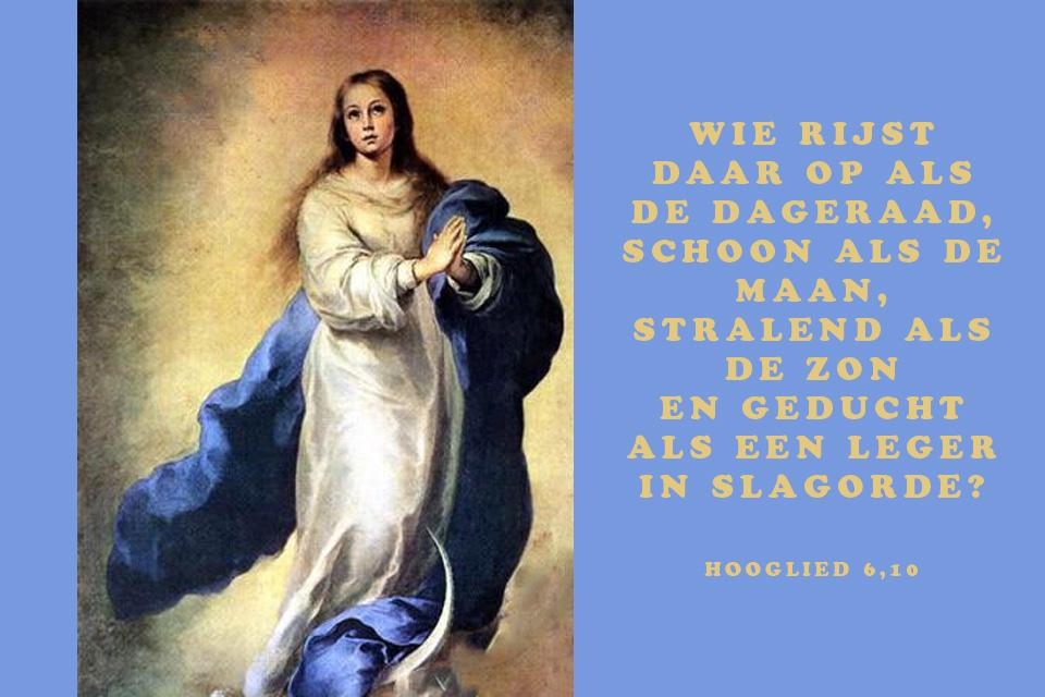 Maria, geducht als een leger in slagorde (1)