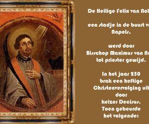 De H. Felix van Nola en de Engelen